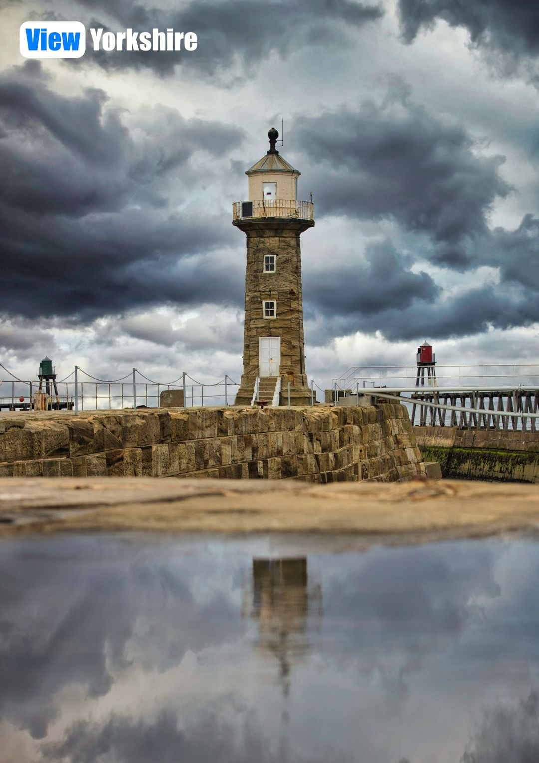 Description: Photo of Whitby Lighthouse